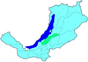 Прибайкальский район на карте