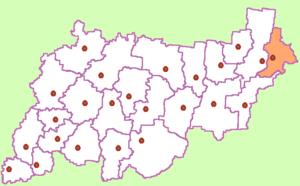 Октябрьский район на карте