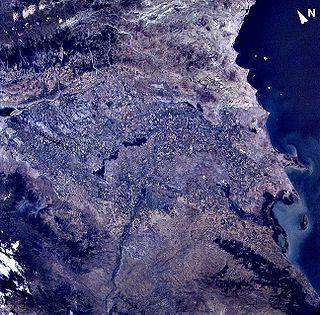 Бассейн реки из космоса