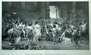 320px thais calls upon alexander the great to put the palace of persepolis to the torch by g. simoni - Натуризм как он есть