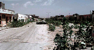An abandoned MOGADISHU Street known as the Green Line, Jan 1993.JPEG