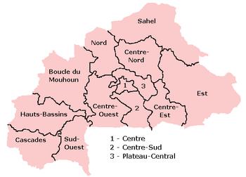 Области Буркина Фасо