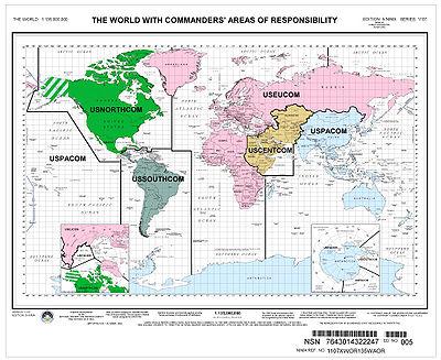 Зоны ответственности войск США