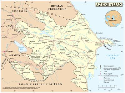 Нафталан на карте азербайджана