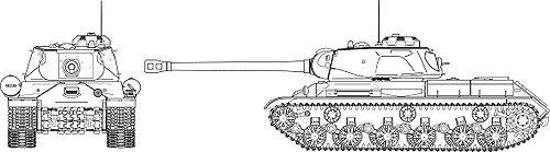 Проекции танка ИС-2