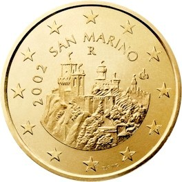 Сан марино евро монеты 10 senti 2002