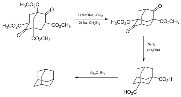 Adamantane synthesis by Prelog.png