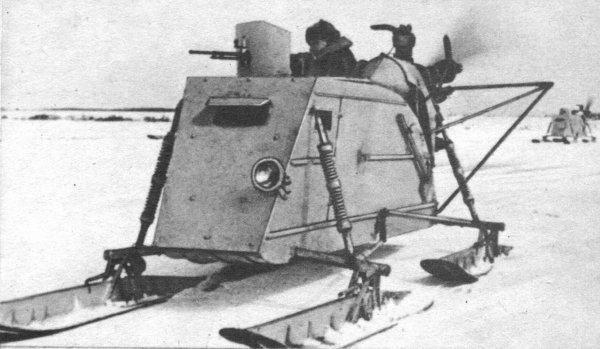 Снегоход (боевые сани) 1907 г.