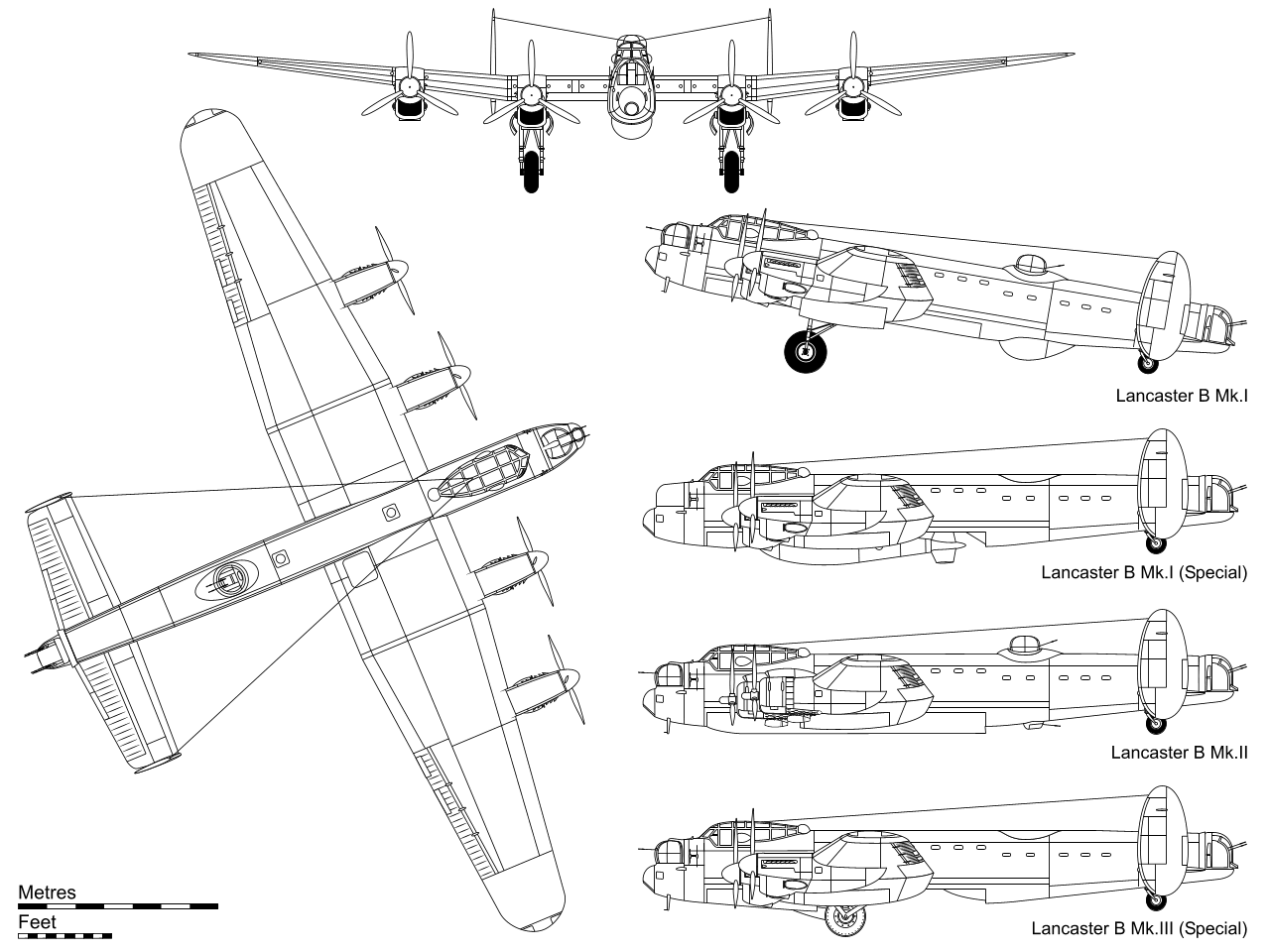 Обои avro lancaster, бомбардировщик, четырёхмоторный. Авиация