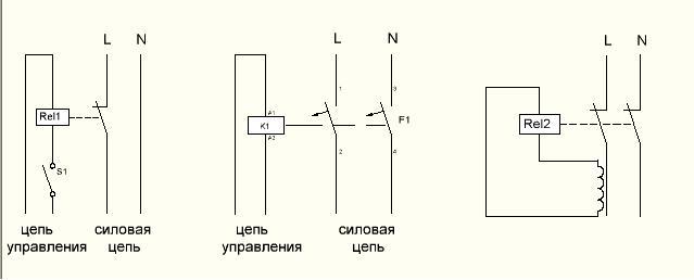 схемы подключения расцепителей