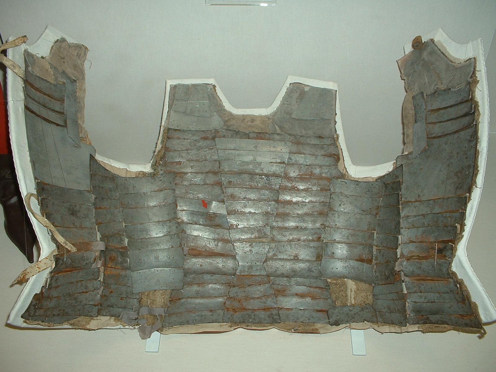 Protecciones históricas Brigandine,_Italian,_c1470,_Royal_Armoury,_Leeds_%28internal_view%29