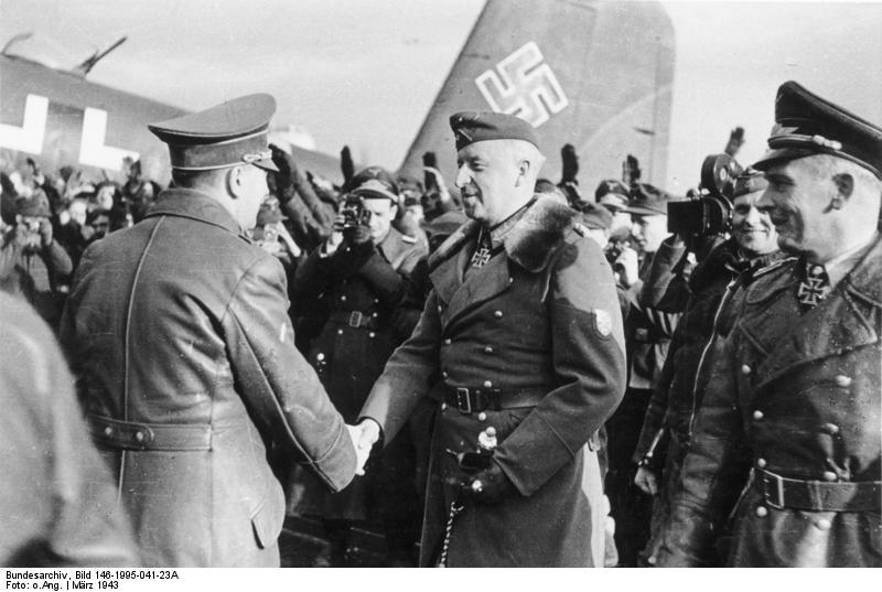 Встреча гитлера и фельдмаршала фон