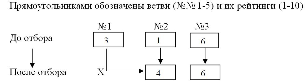 Схема № 3. Отбор.