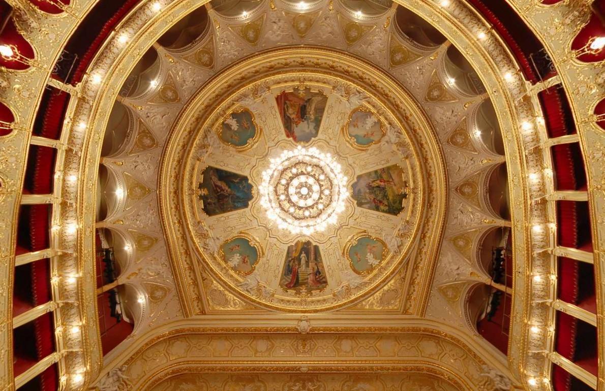 Оперный театр - Одесса Украина - Потолок зрительного зала.