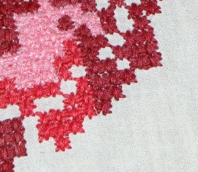 Вышивки крестиком шерстью