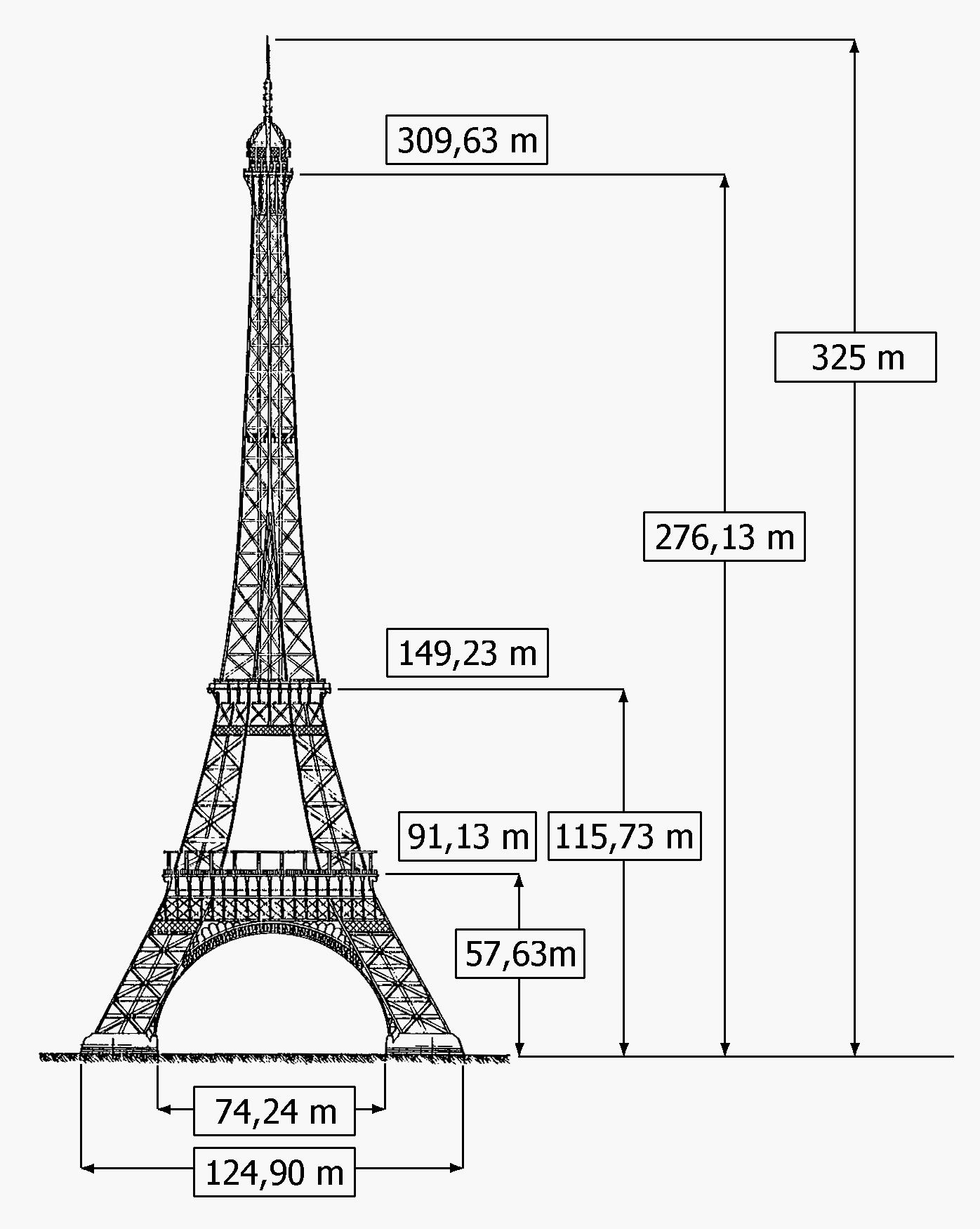 Эйфелева башня из металла чертежи