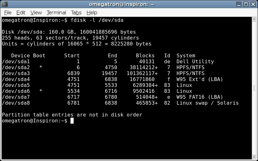 Fdisk Linux - фото 5