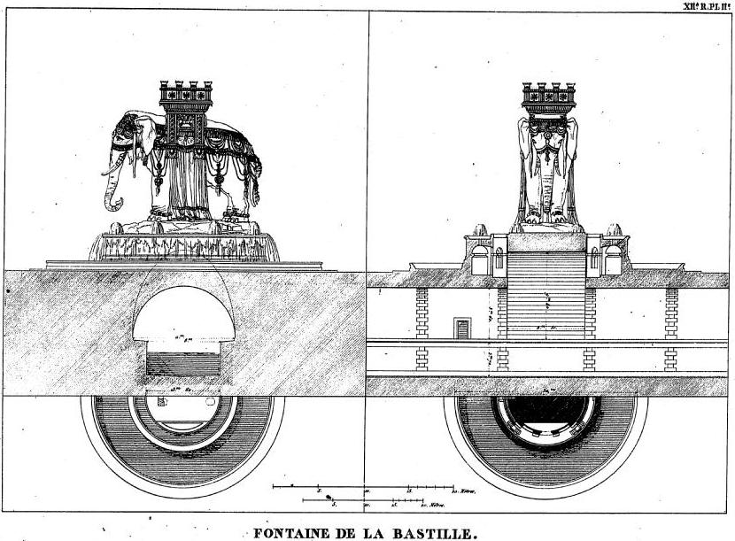 Схема фонтана, выполненная в