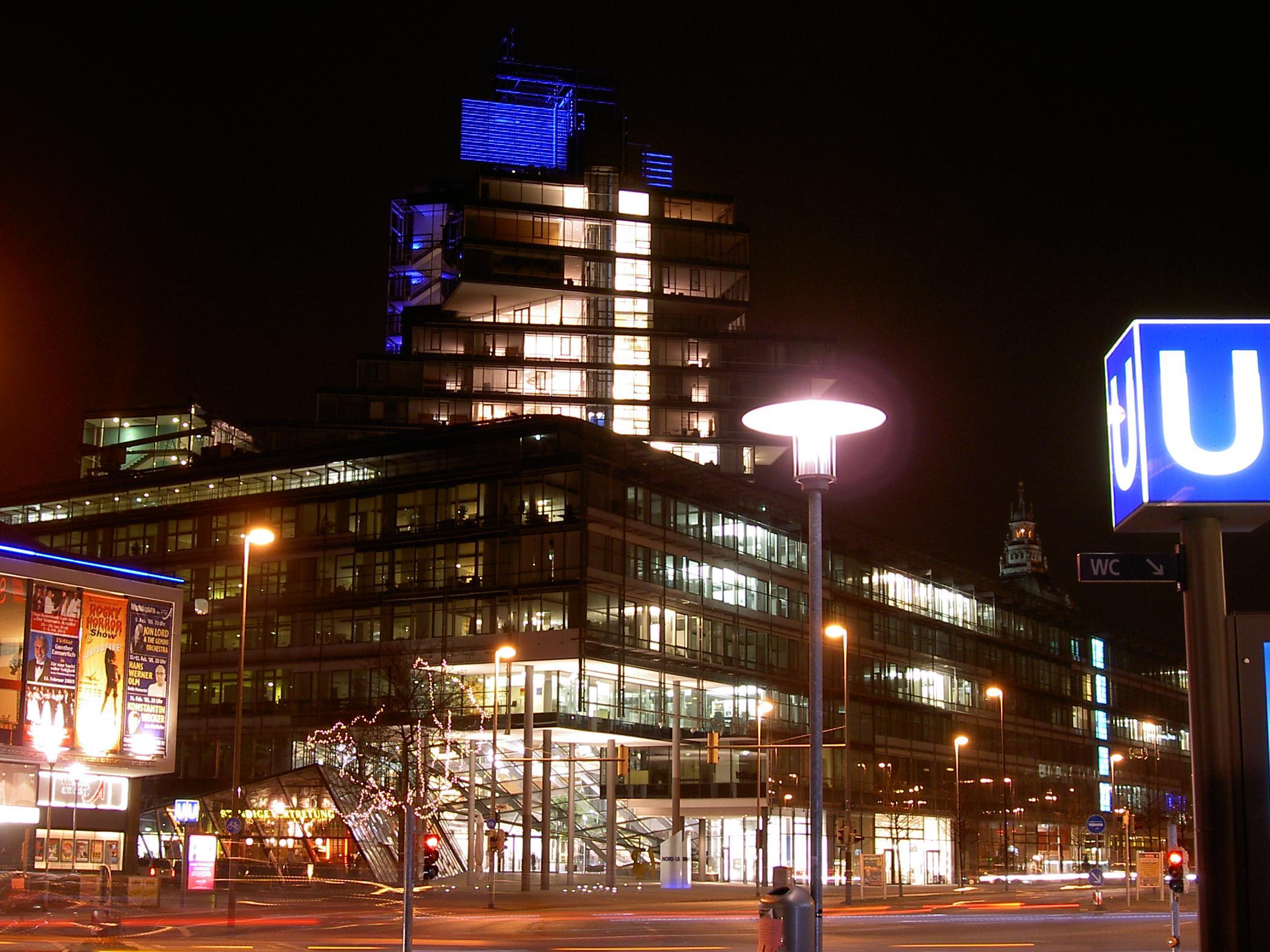 Обои германия, Nord/LB, ганновер, Северонемецкий Земельный банк. Города foto 7