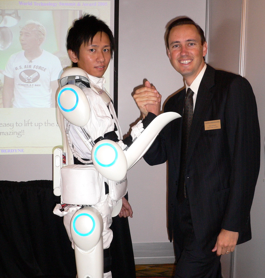 """hybrid assistive limb The robotic exosuit, called hal for """"hybrid assistive limb, was originally developed in japan, but has now been tested on paralyzed patients at the center for neurorobotic movement training in ."""