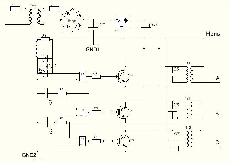 схема IGBT инвертора по