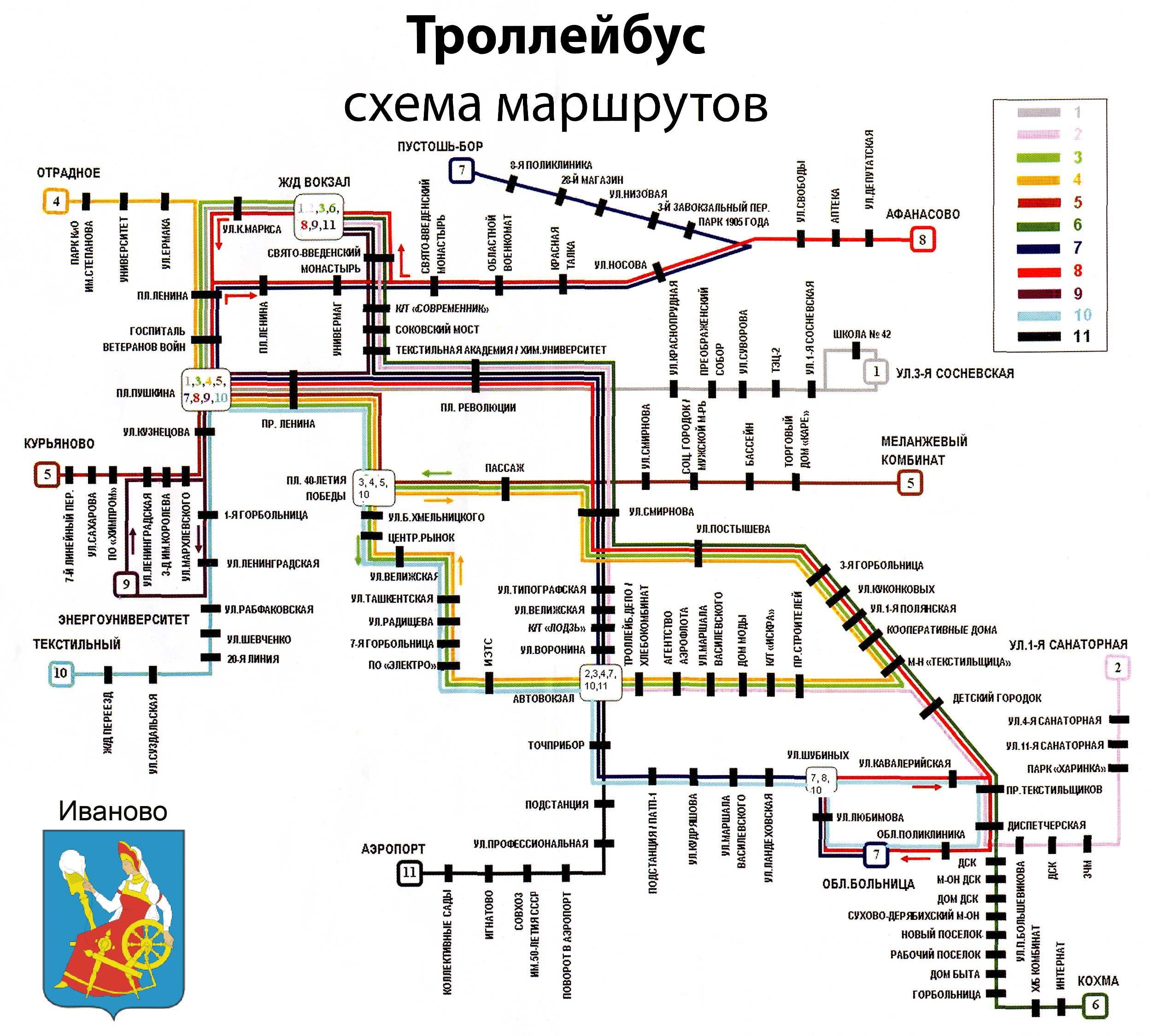 владивосток схема маршрутов по городу