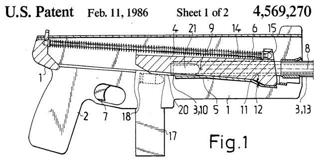 Устройство пистолета-пулемёта