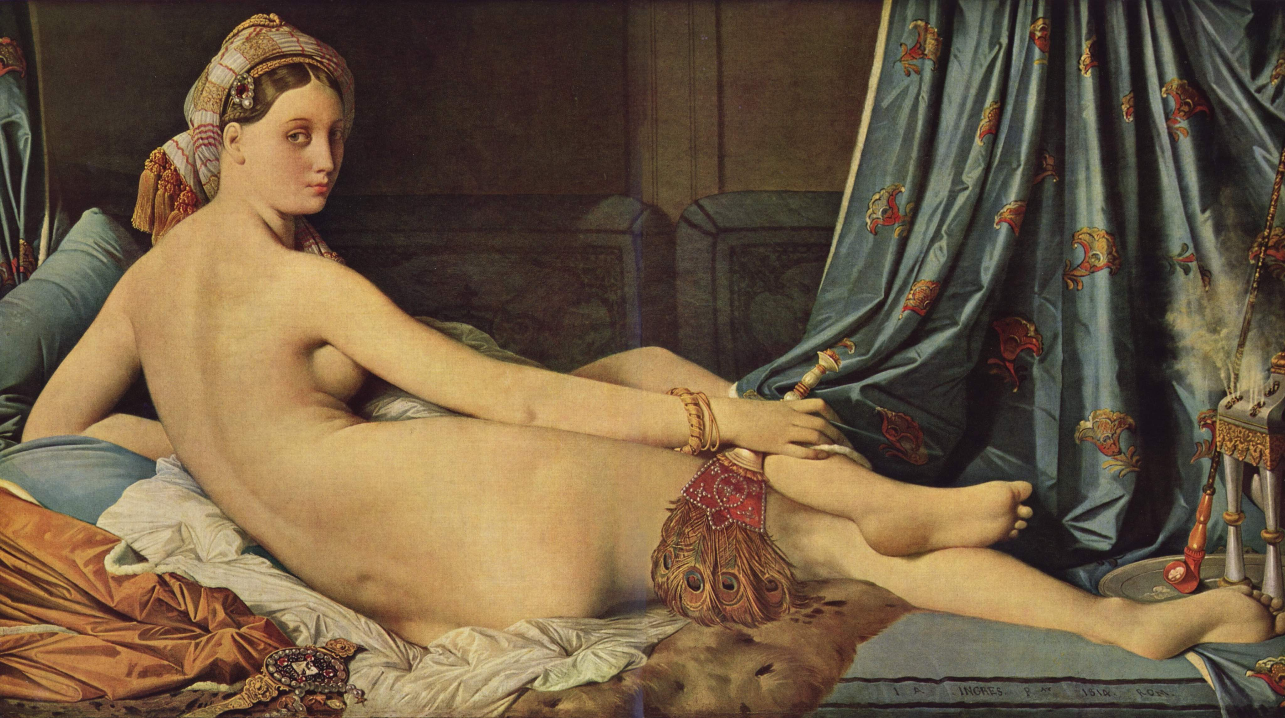 Большая одалиска.1814.Лувр,Париж.