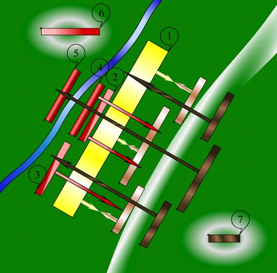 Схема битвы на Калке 31 мая