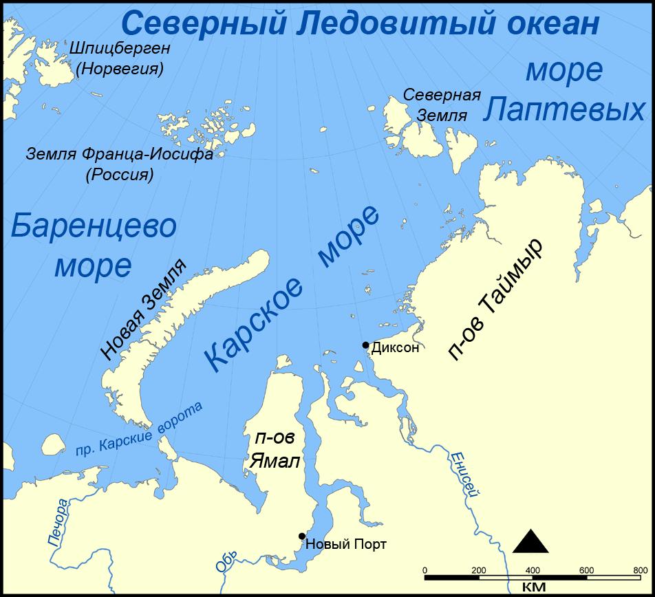 Где находится на карте остров шпицберген