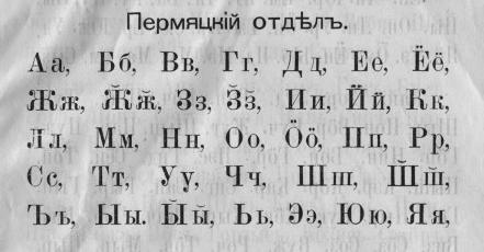 алфавит с мягким знаком