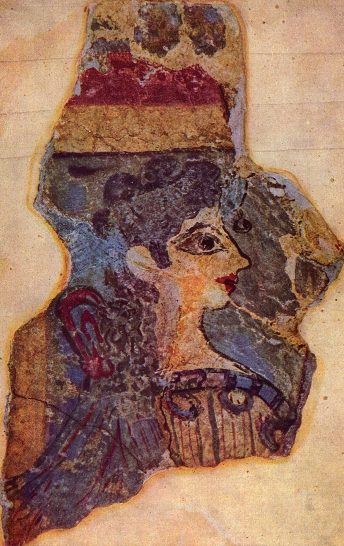 Фреска секс женщины с быком