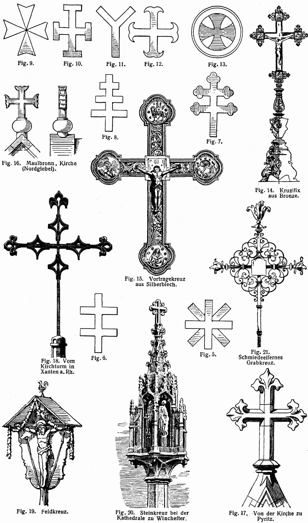 Некоторые виды крестов иллюстрация