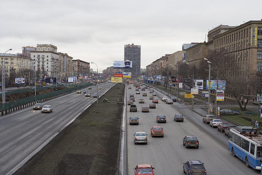 Ленинградский проспект в самом