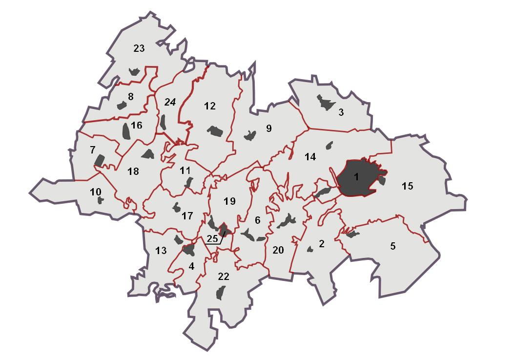 Карта-схема Лениногорского