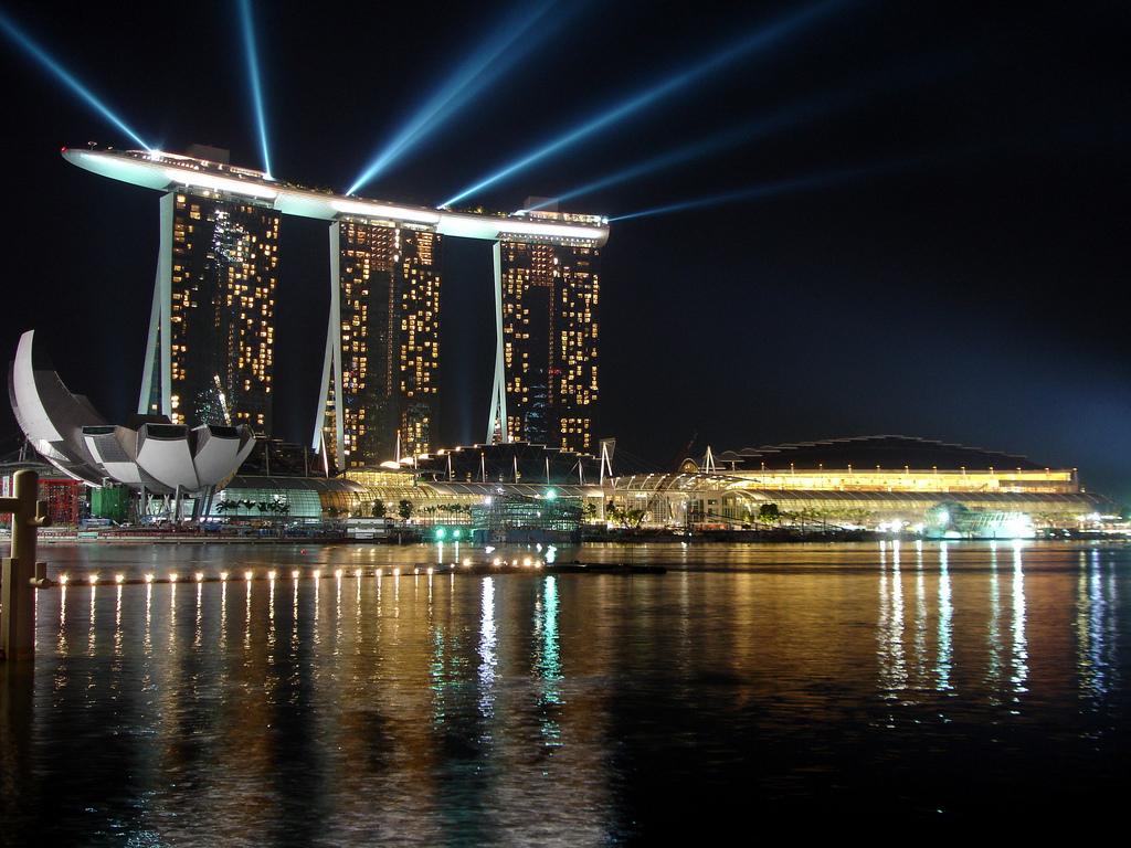 фото сингапур марина бэй сэндс