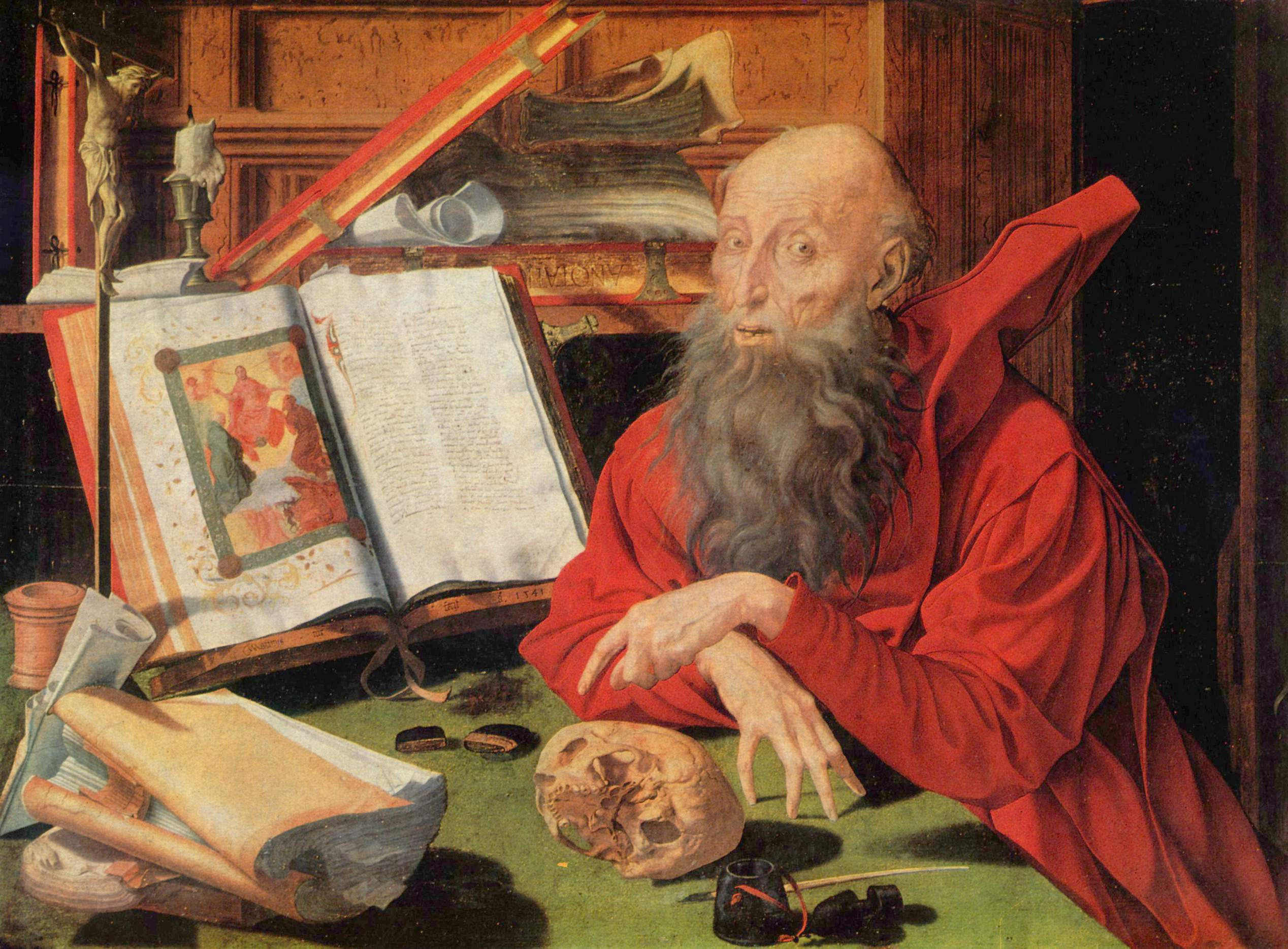 Category:St Jerome in his study by Marinus van Reymerswale