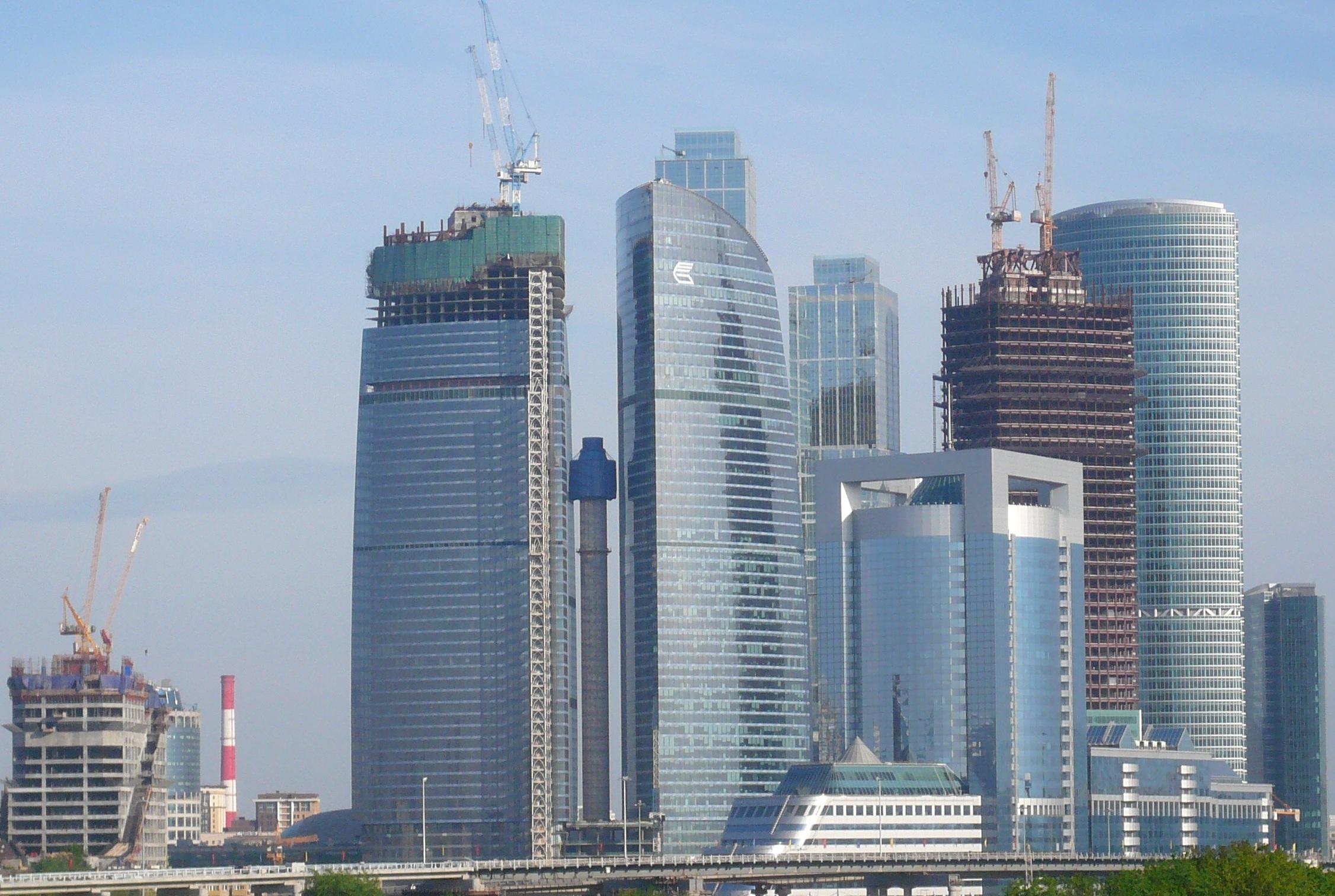 Москва сити 9 мая 2010