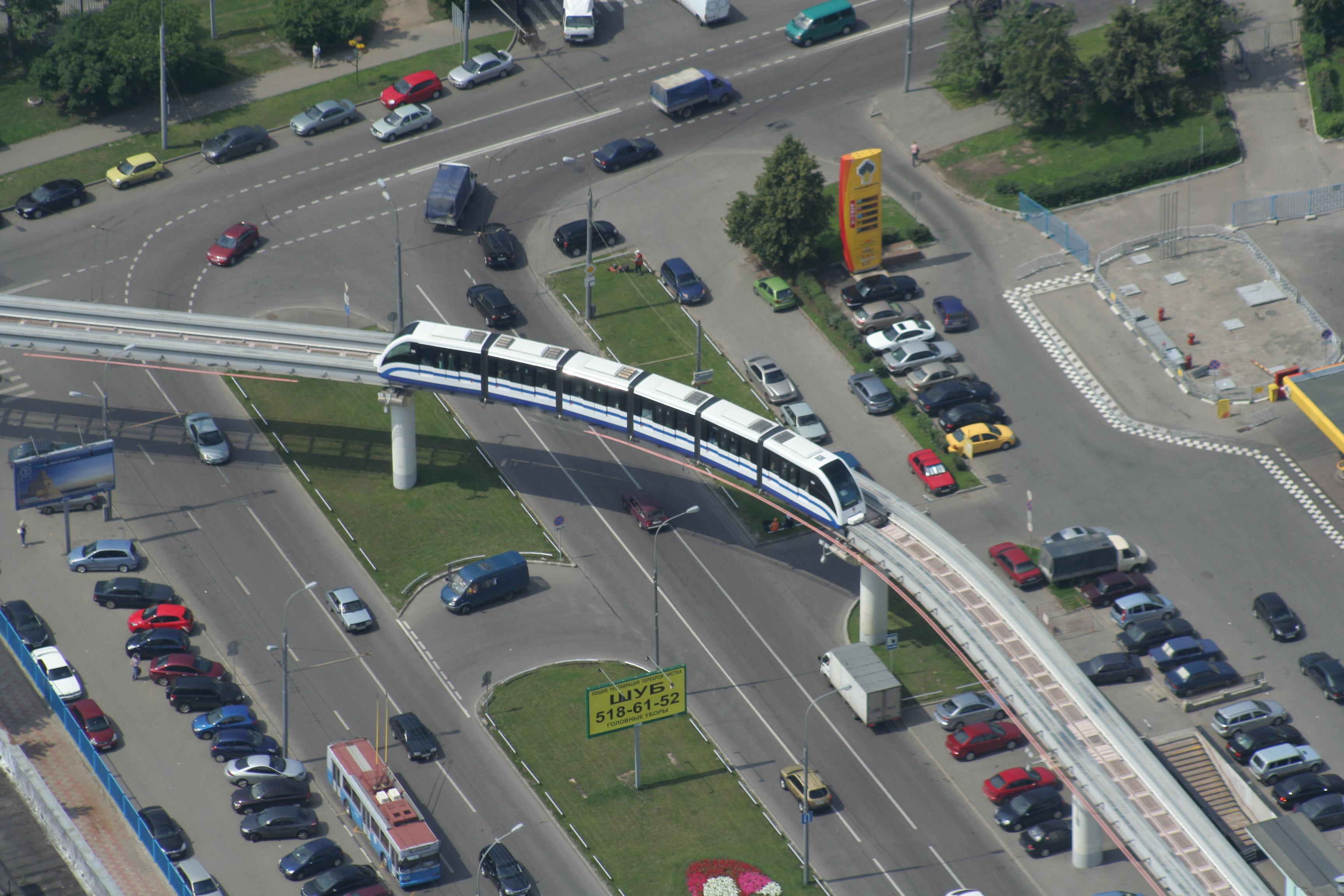 схема метро с монорельсовой дорогой