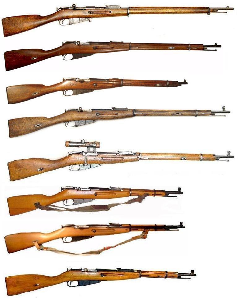 Mosin Nagant series of rifles.