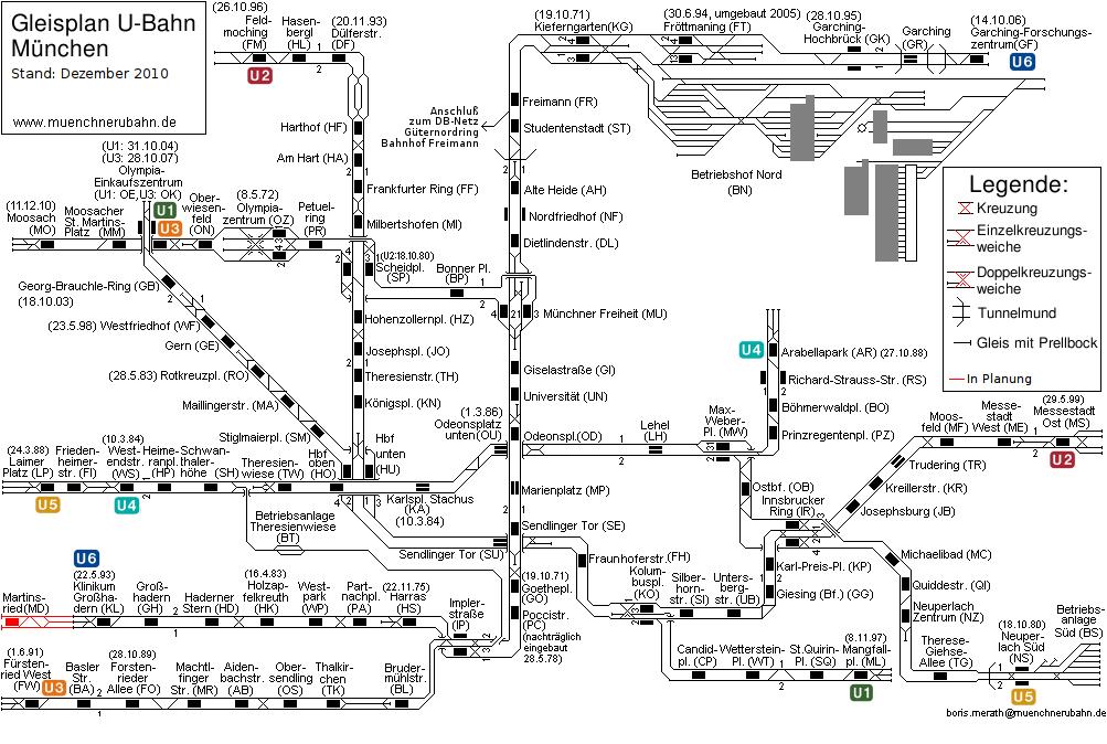 Схема путей Мюнхенского