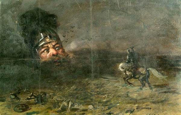 Рисунок бой руслана с головой отрывок из поэмы руслан и людмила читать - bd4f
