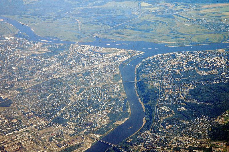 Вид Нижнего Новгорода с