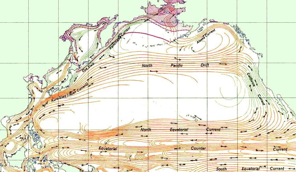 Схема течений в северном