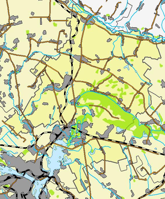 Новомосковский район, карта