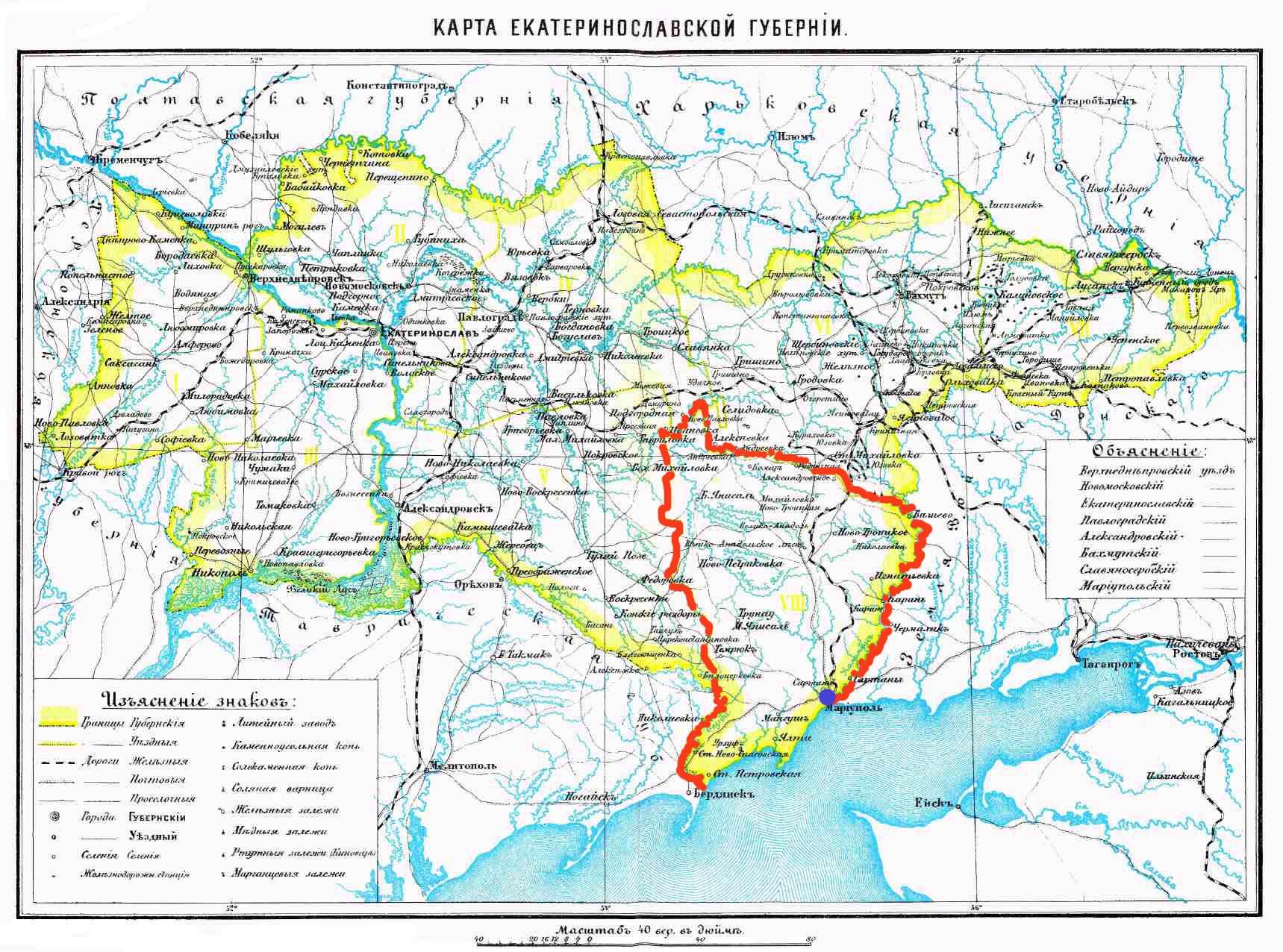 карта схема пос мелекино