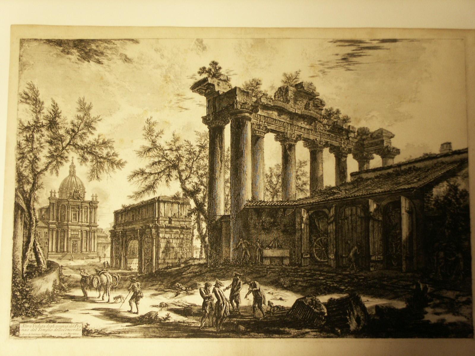 Piranesi veduto temple concorde
