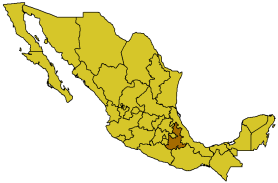 Пуэбла на карте