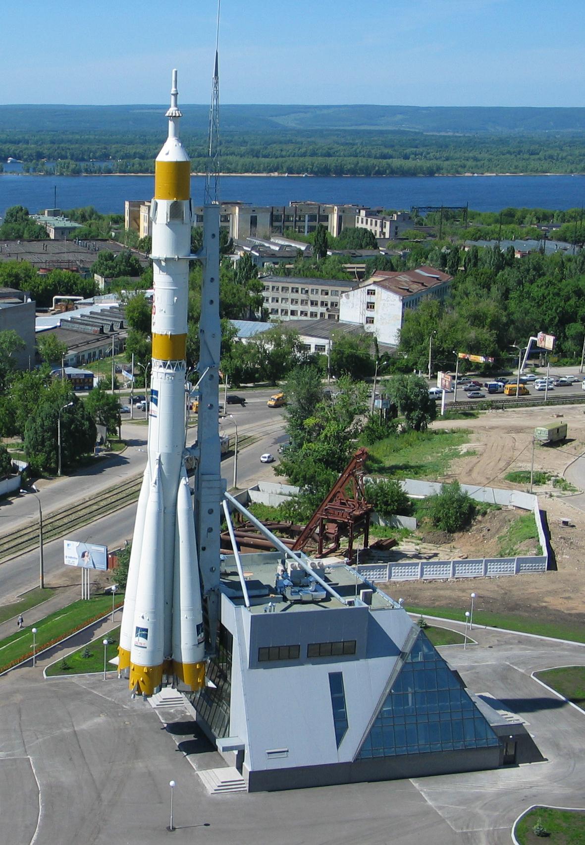 памятный комплекс ракеты носителя союз