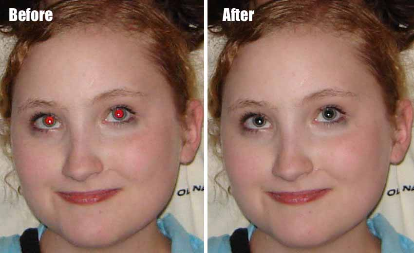 Фото с эффектом красных глаз